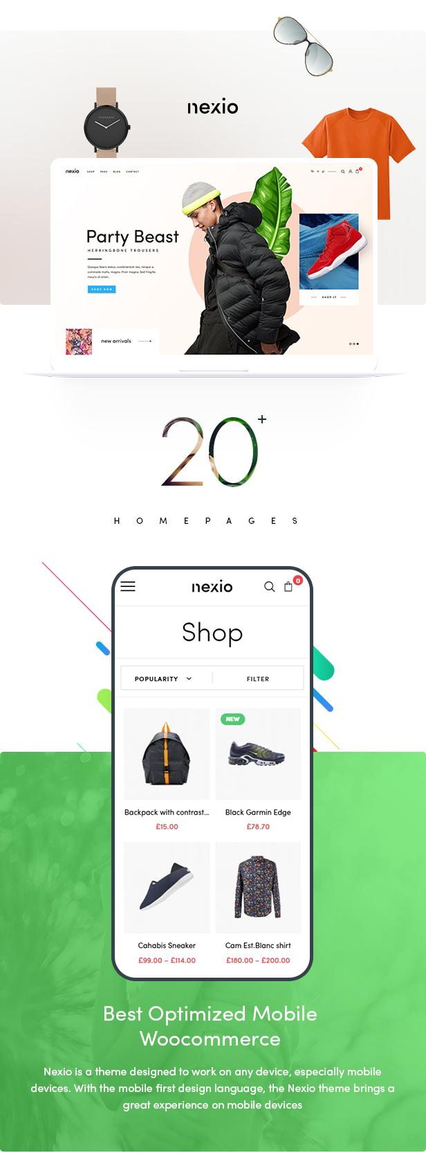 WordPress主题Nexio v1.0.7 时尚服装WooCommerce商店主题